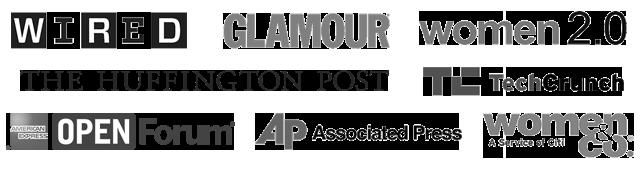 press logos - grayscale